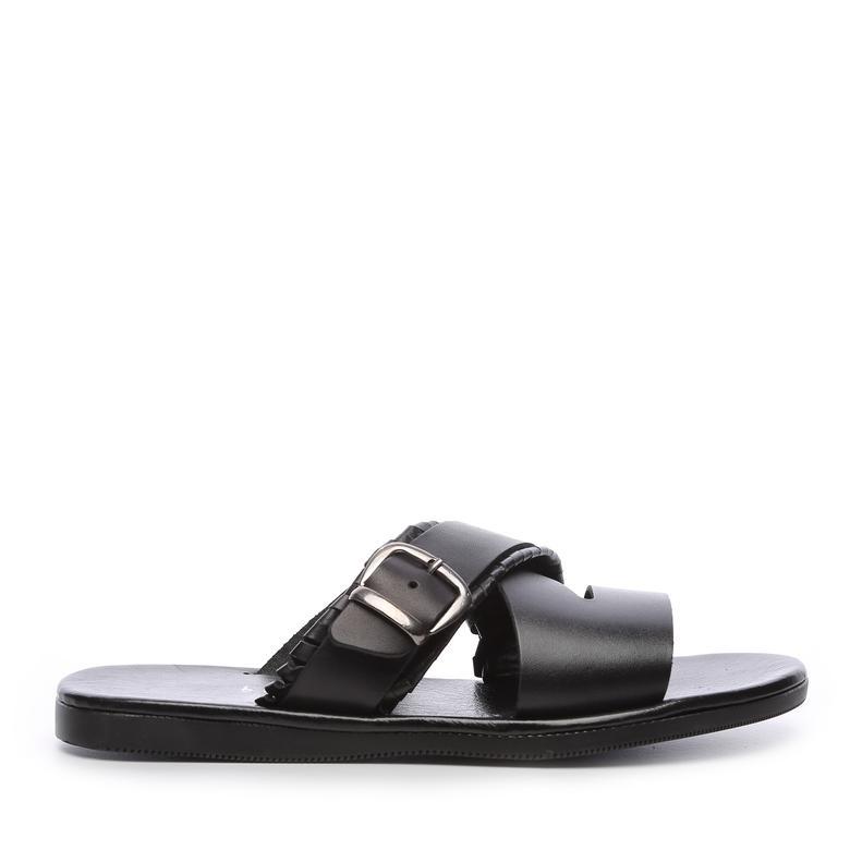 Kemal Tanca Erkek Derı Terlik Sandalet